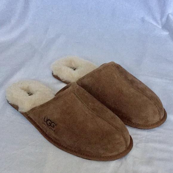 11c6cf75750 NIB UGG Men's Scuff Suede Sheepskin Slippers NWT